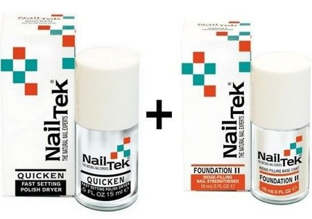 NAIL TEK QUICKEN + FOUNDATION II ZESTAW
