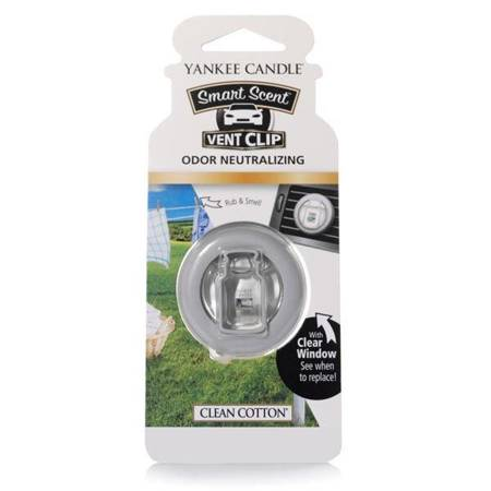 Yankee Candle Car Vent Clip Clean Cotton® Odświeżacz do auta