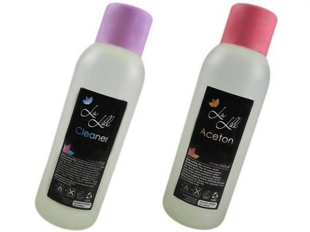 Aceton 500 ml + Cleaner 500 ml + 50 Wacików
