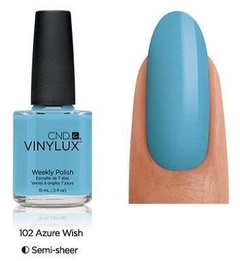 CND VINYLUX Lakier 7-dniowy Azure Wish Nr 102