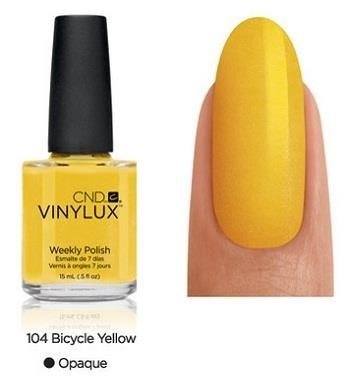 CND VINYLUX Lakier 7-dniowy Bicycle Yellow Nr 104