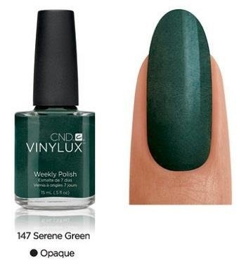 CND VINYLUX Lakier 7-dniowy Serene Green Nr 147