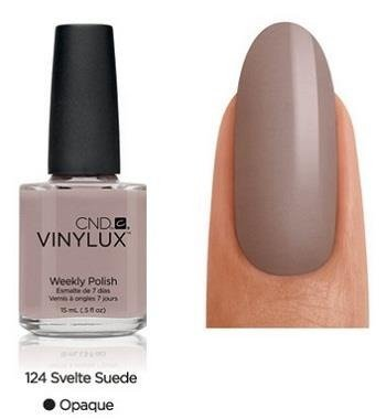 CND VINYLUX Lakier 7-dniowy Svelte Suede Nr 124