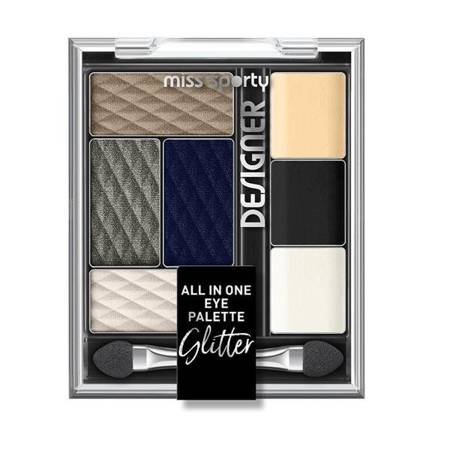 Designer All In One Eye Palette paleta cieni  do powiek 400 Glitter 9.5g
