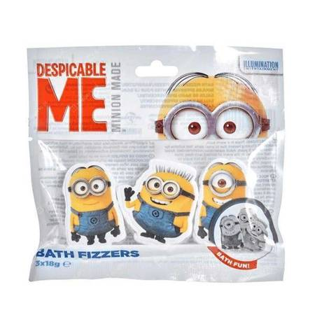 Despicable Me Minion Bath Fizzers kostki do kąpieli 3x18g