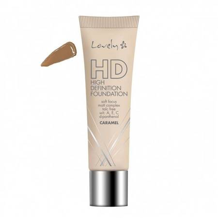 HD High Definition Foundation fluid do twarzy z kompleksem Soft Focus Caramel 30g