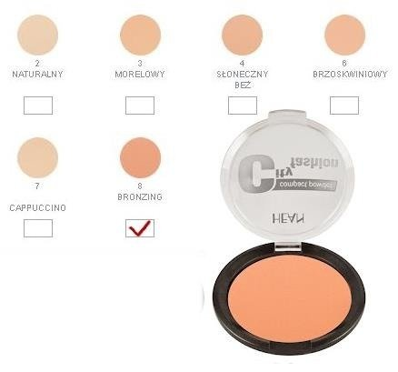 Hean  Puder matujący City Fashion 4 Sunny Beige