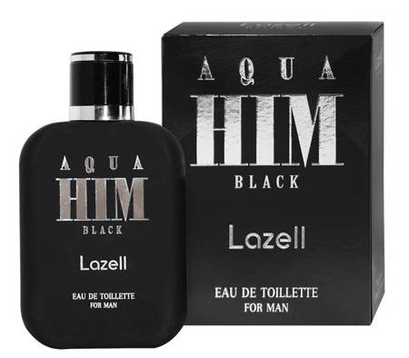LAZELL Aqua Him Black For Men EDT spray 100ml