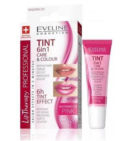 Lip Therapy Professional 6w1 Care & Colour intensywne serum do ust nadające kolor Watermelon Pink 12ml