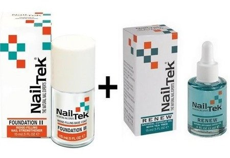 NAIL TEK nailtek FOUNDATION II + RENEW ZESTAW