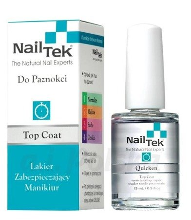 Nail Tek QUICKEN top coat wysuszajacy 15 ml