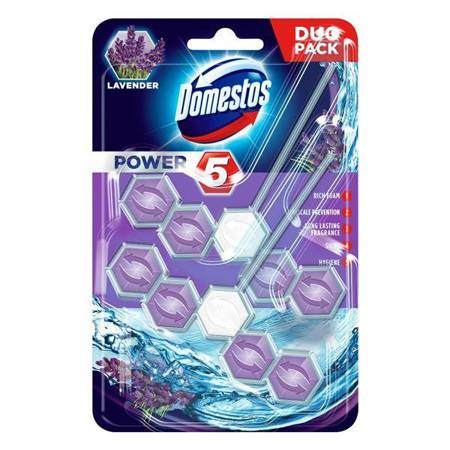 Power 5 Lavender kostka toaletowa 2x55g
