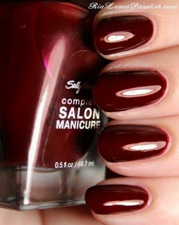 Sally Hansen Lakier Salon Complete Manicure Red Zin