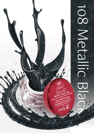 Semilac Żel UV Gel Color 108 Metallic Black 5ml