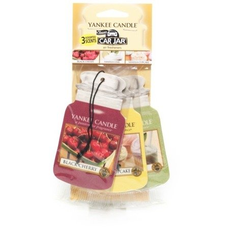 Yankee Candle Car Jar Afternoon Picnic (Black Cherry + Vanilla Lime + French Vanilla) op.- 3 szt.