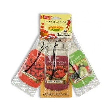 Yankee Candle Car Jar Fruit-a-Licious (Black Cherry + Kiwi Berries + Sweet Strawberry) op.- 3 szt.